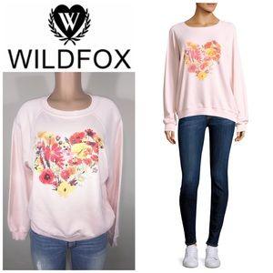 WILDFOX blooming hearts sweatshirt. NWT